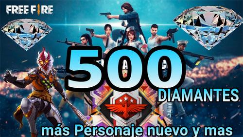 500 diamantes free fire y mas premios