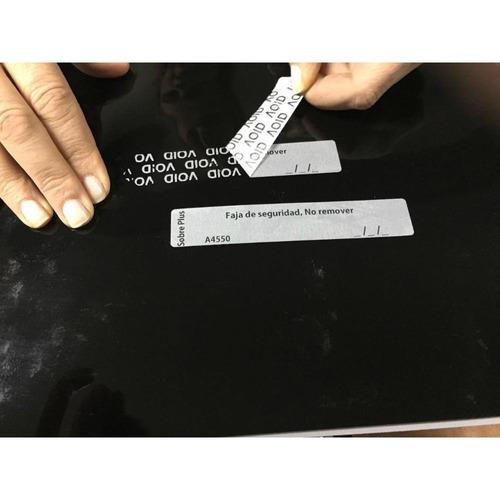 500 etiquetas de seguridad de 110mm x20mm