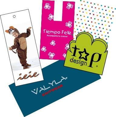 500 etiquetas p/ropa 9x3cm-300gs  fullcolor fte - imprenta