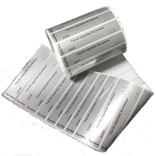 500 etiquetas void de 40mm x25mm