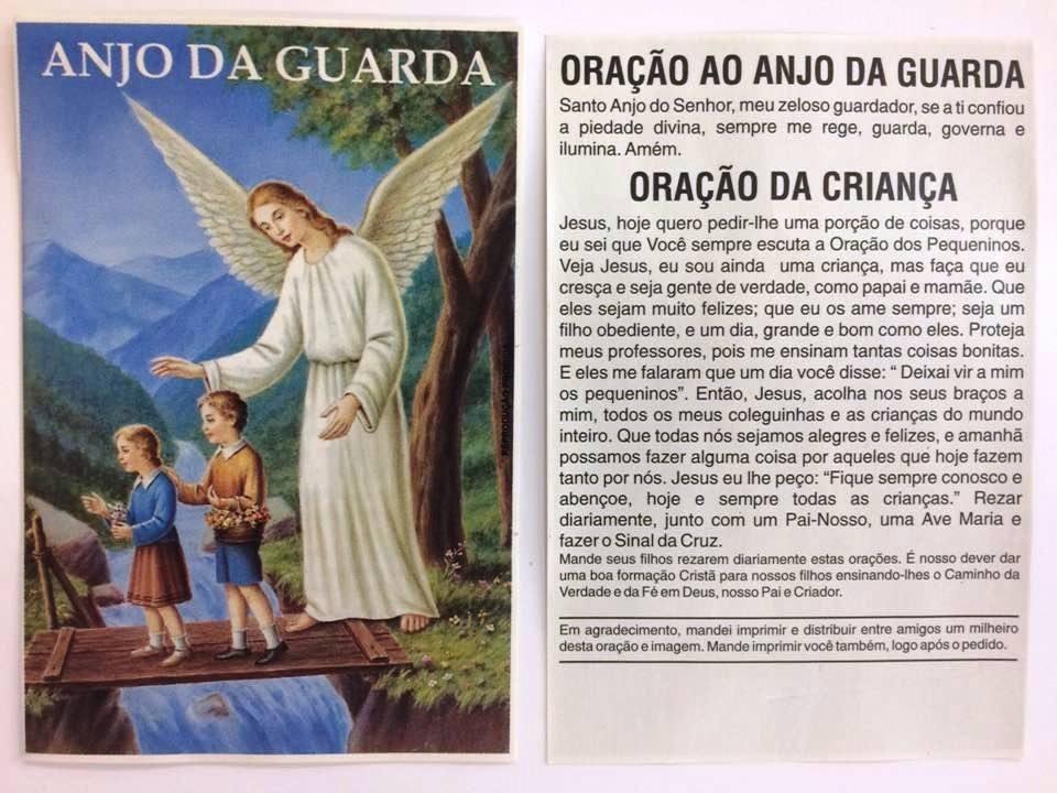 500 Fls Oracao De Promessa Anjo Da Guarda Santinho Imagem R 25