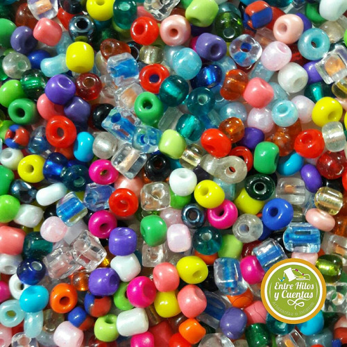 500 gr mostacillones surtidos - artesanias - bijouterie