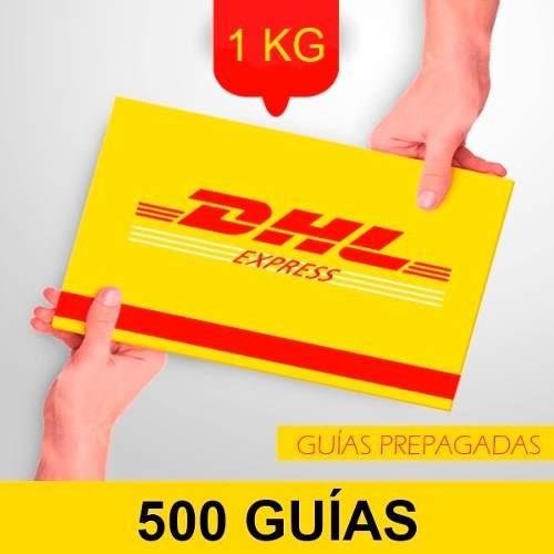 500 guía prepagada día siguiente dhl 1kg+recolección gratis