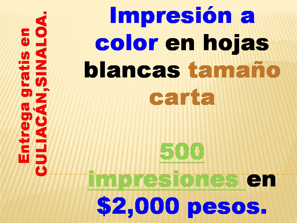 500 Impresiones A Color En Hojas Blancas Tamaño Carta - $ 2,000.00 ...