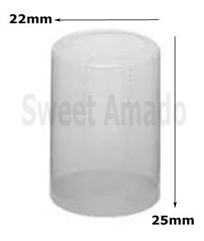 500 lacres incolor termoencolhível mini garrafa 22mm x 25mm