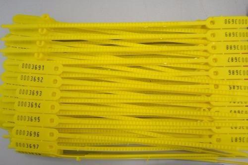 500 lacres plastico numerados rompe  fácil  16  cm