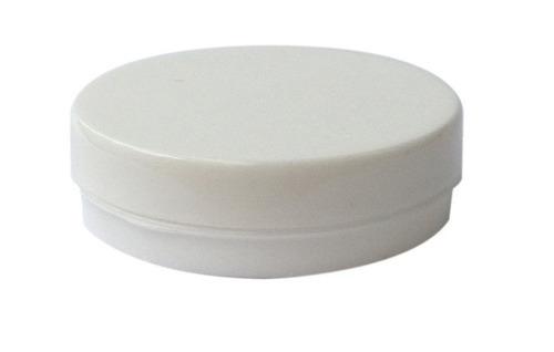 500 latinha 5x1 plastica redonda branca - lembrancinhas