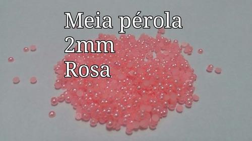 500 meia pérola 2mm jóias de unhas adesivos pingente películ