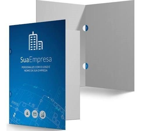 500 pastas personalizadas colorida papel couche 250gr