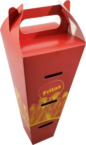 500 pçs caixa embalagem delivery p batata fritas cone porcao
