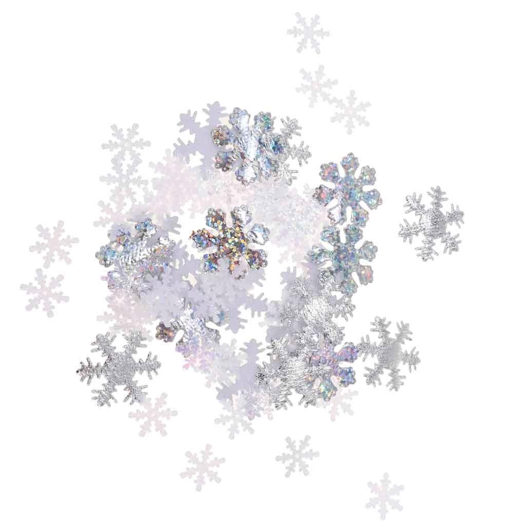 500 Piezas Confeti Navidad Copos De Nieve Mesa Dispersión N ...