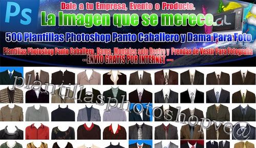 500 plantillas photoshop trajes y ropa para foto documentos