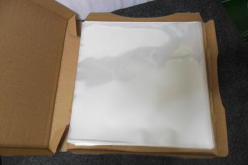 500 plásticos p/ lp vinil - 250 externos 0,15 + 250 intermos