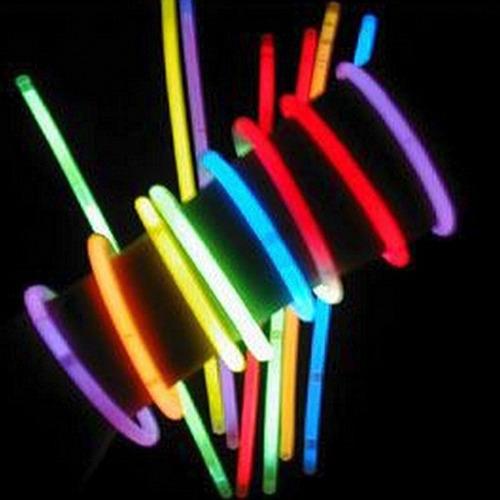 500 pulseras fluor luminosas barras led fiestaclub