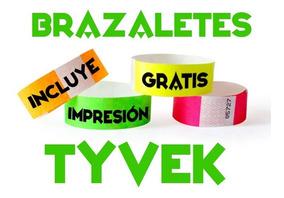 f9b189b73404 500 Pulseras Personalizadas Tyvek Eventos Fiestas Brazaletes