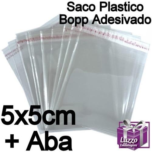 500 saquinho plastico adesivado 5x5 cm lazzo embalagens