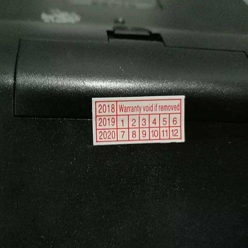 500 sellos etiqueta seguridad garantía indicador de fecha