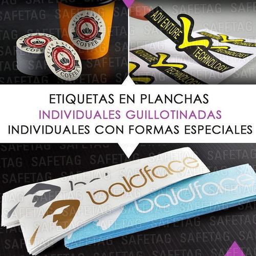 500 stickers calcos etiquetas autoadhesivas 6 x 4 cm color - troquelados especiales formas resistentes agua personalizad