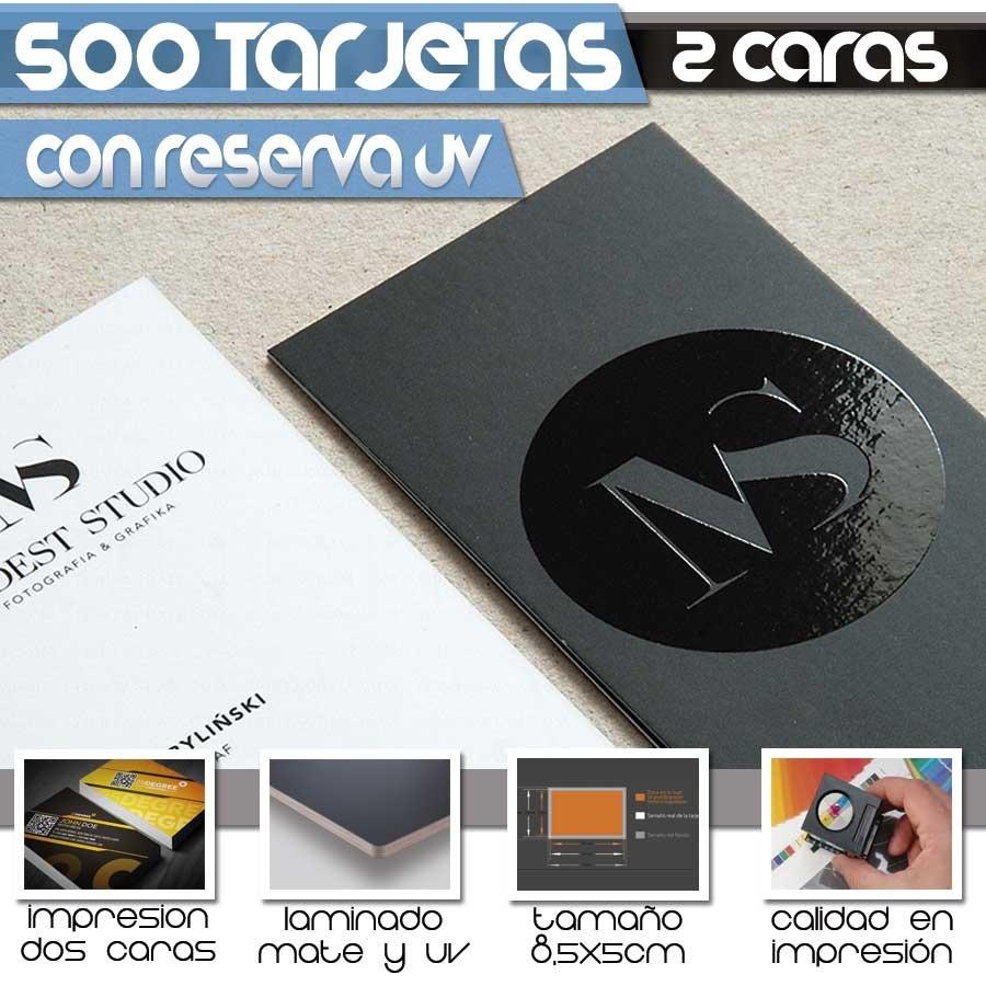 87c00c22dc7b9 500 tarjetas de presentacion con reserva uv y laminado mate. Cargando zoom.
