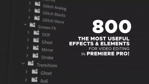 500 transições +500 títulos +800 presets adobe premiere