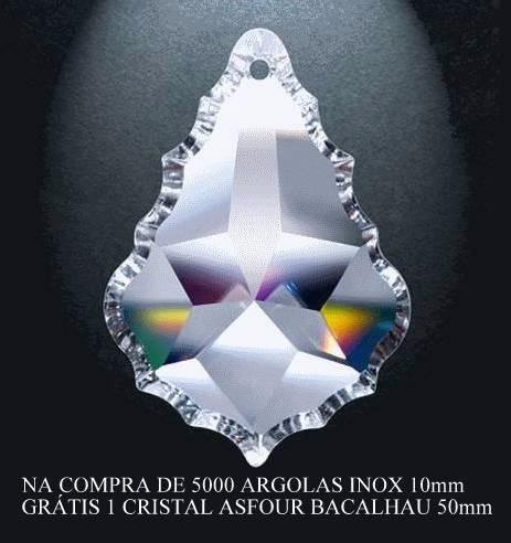 5.000 argolas de aço inox 10 mm cristais lustres luminárias