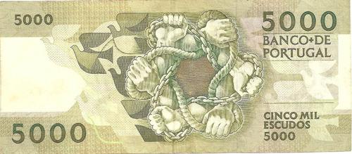5000 escudos - portugal - 1991 - antero de quental