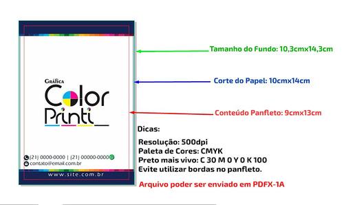 5.000 folders, flyers e panfletos 4/0 80g 10x14cm