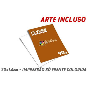 5000 Folheto, Folder, Panfleto 14x20 90g 4x0 + Arte