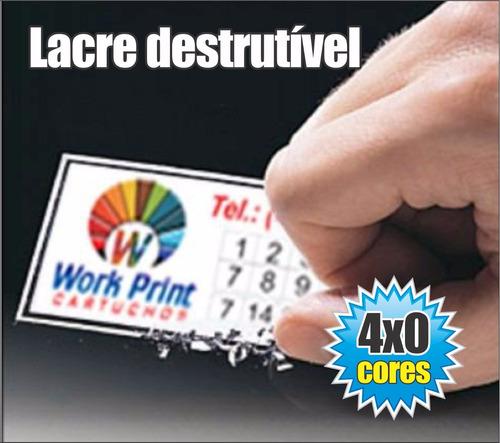 5.000 lacres de garantia para celular - quadrado 8 mm