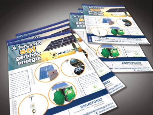 5000 panfletos barato 10x14 folheto folder 4/0 4x0