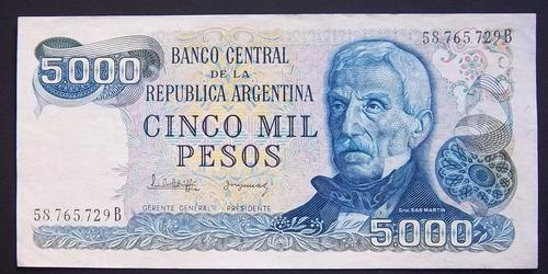 5000 pesos ley serie b bottero 2476 excelente