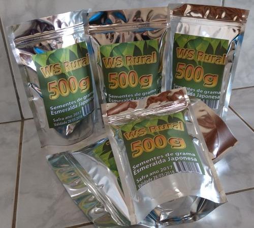 500g sementes grama esmeralda japonesa ref-14
