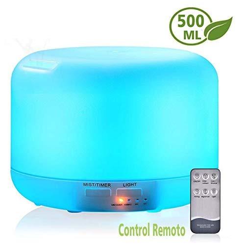 500ml difusor de aceites esenciales/ultrasónico humidificad