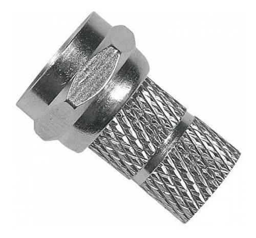 500pcs conector rosca rg6 f para cabo coaxial pacote