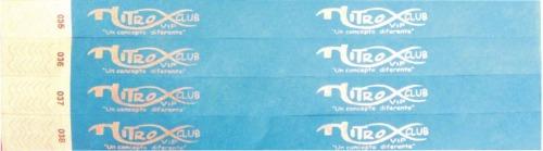 500pza brazaletes de tyvek de seguridad resistentes