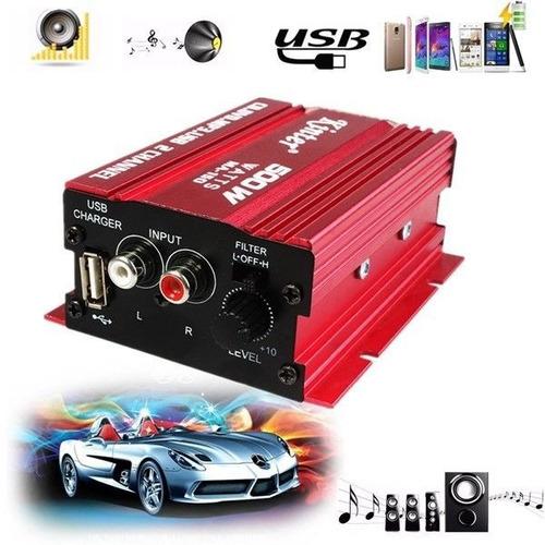 500w mini hi-fi 2 ch canal amplificador audio estéreo amplif