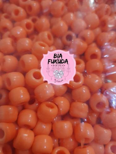 50grs micangão laranja cítrico tererê plástico 10mm furo 3mm