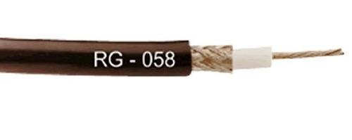 50m. cabo coaxial rg58 - 50 ohms rfs - kmp - homol. anatel