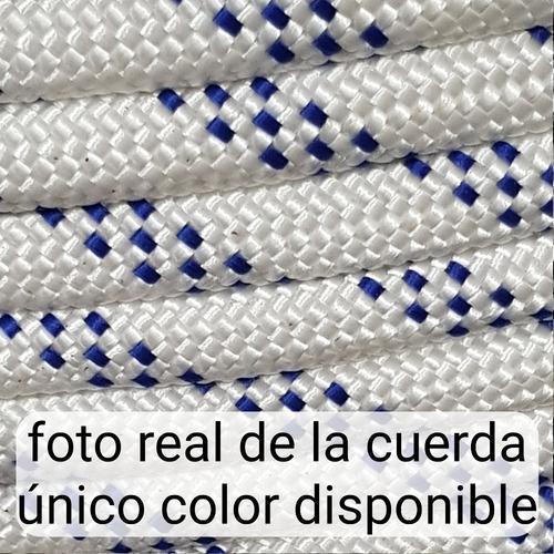 50m cuerda soga cabo 10mm poliester fuerte resistente 1500kg - resiste agua y sol - hay stock