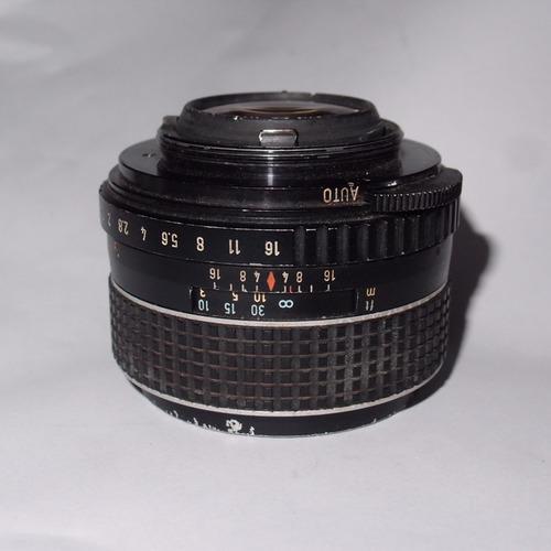 50mm tacumar m42 (rosca) f1.4 foco manual