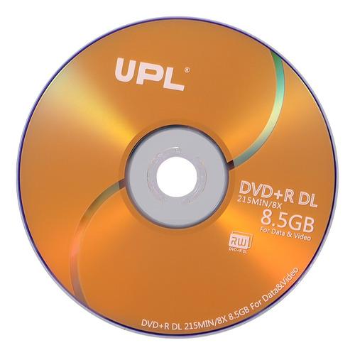 50pcs 215min 8x dvd + r dl 8.5gb disco en blanco disco dvd