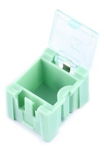 10pcs Herramienta de tornillos peque/ños objetos electr/ónicos de piezas sueltas en la caja de almacenaje Lab Caso SMT SMD surge autom/áticamente Patch Recipiente para regalos de Navidad