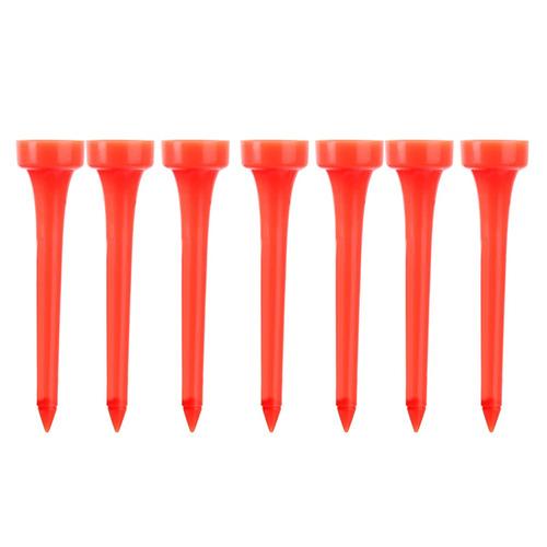 50pcs rojo de plástico tee de golf 60mm golfista formación