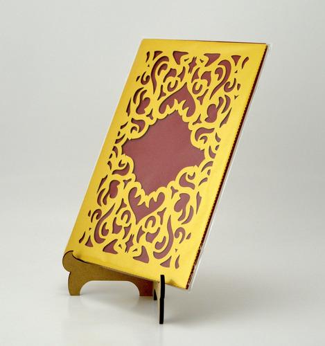 50pzs sobre dorado oro invitacion corte laser boda art326