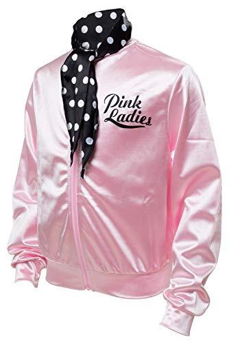 50s Grease T-bird Danny Pink Ladies Traje De Chaqueta De Sat ... c5fe67350b134