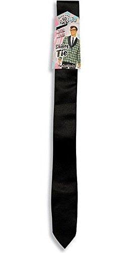 50.s skinny black tie adulto