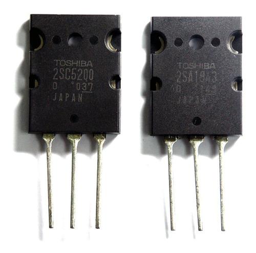 50x par transistor 2sc5200-2sa1943 + 200 0,47r-5