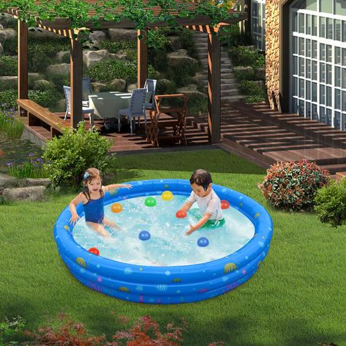 51 pulgadas ronda piscina inflable al aire libre patio agua
