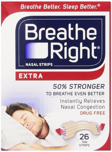 52 tiras nasales breathe right extra fuerte caja original
