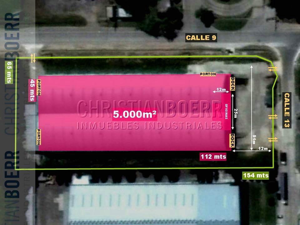 5.200m en parque ind pilar - centro de distribucion con dock